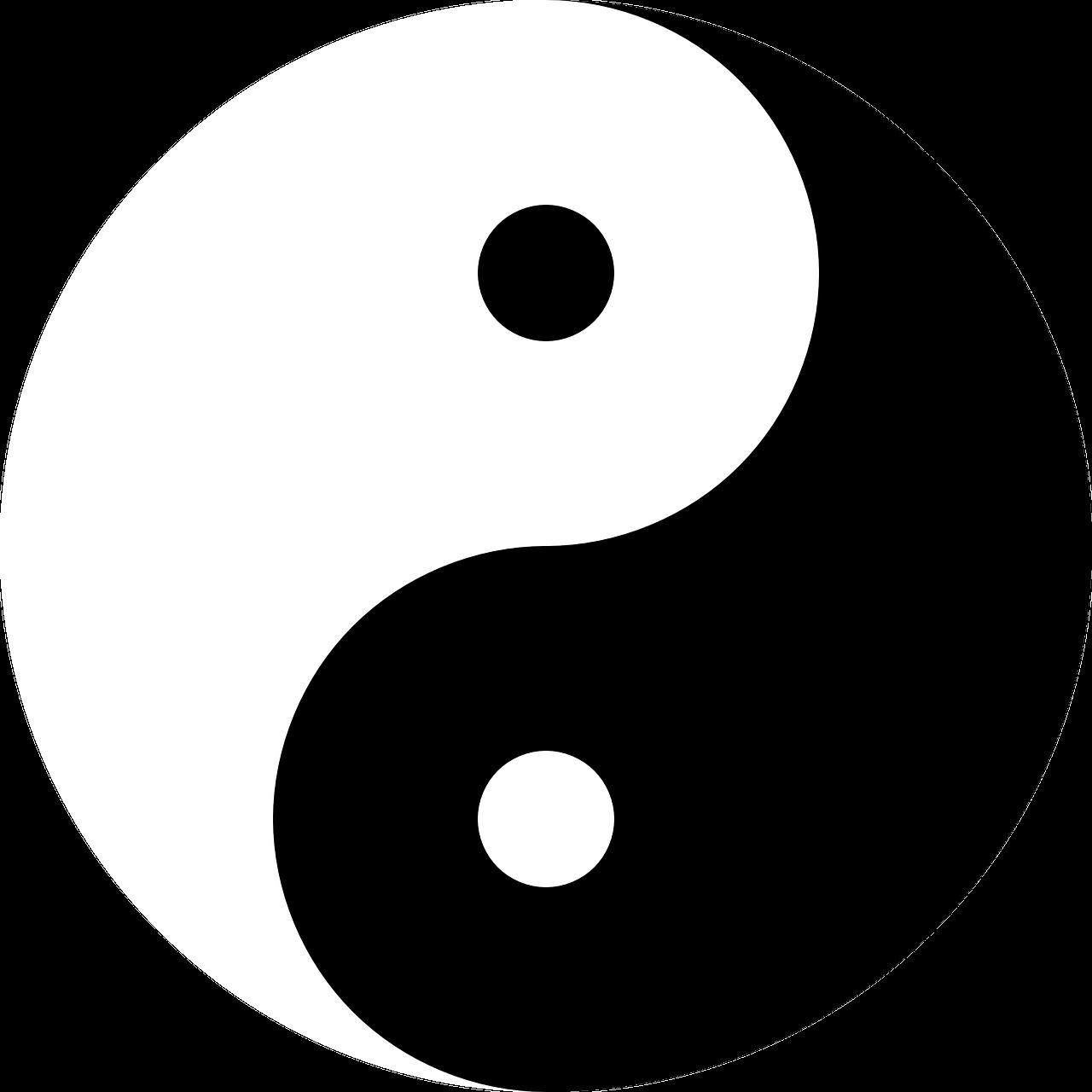 yin and yang, harmony, black